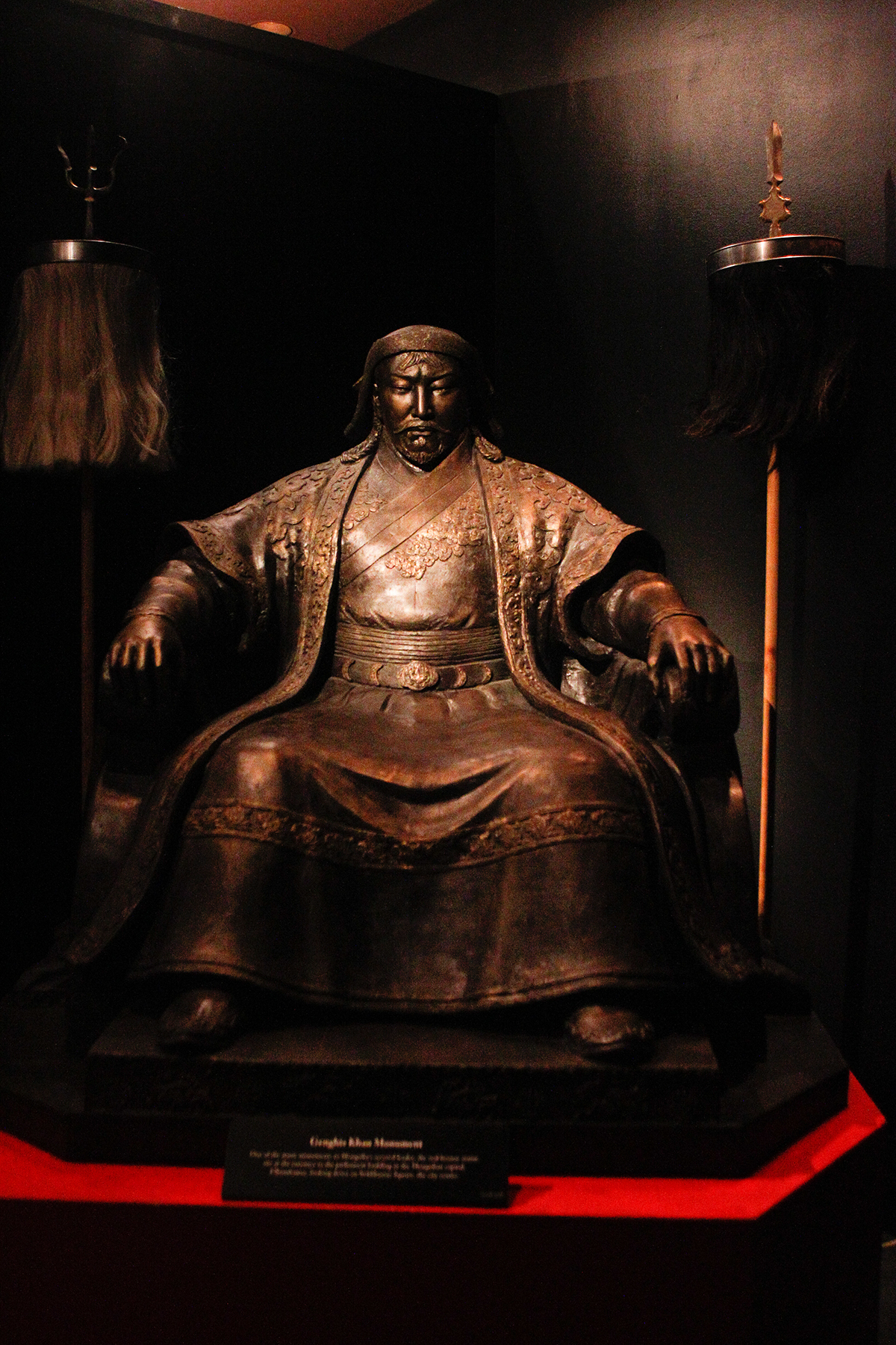 who is genghis khan before his fathers death Genghis khan, or ghengis khan as he is more widely known, was born about the year 1162 to a mongol chieftain, yesugei, and his wife he was born with the name of temujin, which means 'iron worker' in his native language.