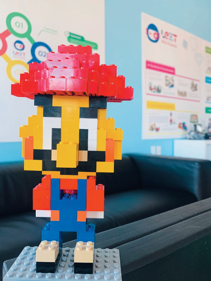Created by Rachel White FAMOUS PLUMBER—Super Mario in person.
