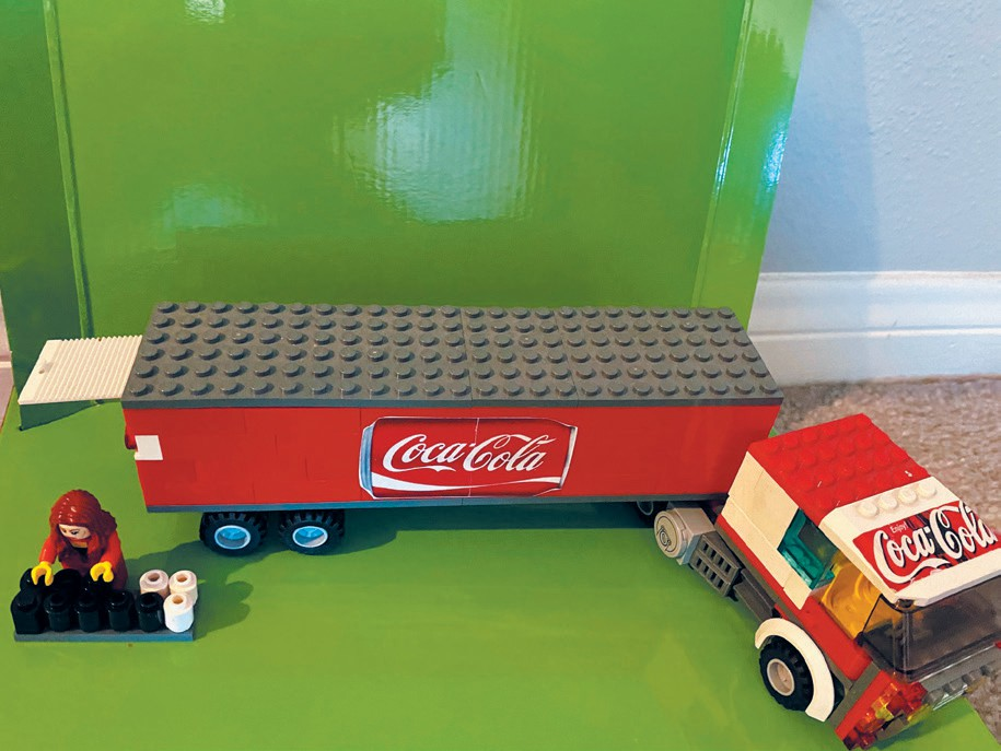 Created by Austin Devine THINGS GO BETTER WITH COKE—Austin built a Coca-Cola delivery truck for mom to display on her desk at work.
