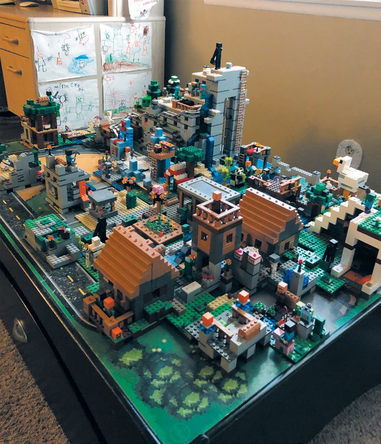"""Created by Ethan Ornelas MEGAPOLIS—""""Minecraft World"""" is an explosion of Minecraft sets. This world has many friends and enemies such as zombies and skeletons who haunt the night causing trouble. EDITOR'S CHOICE"""