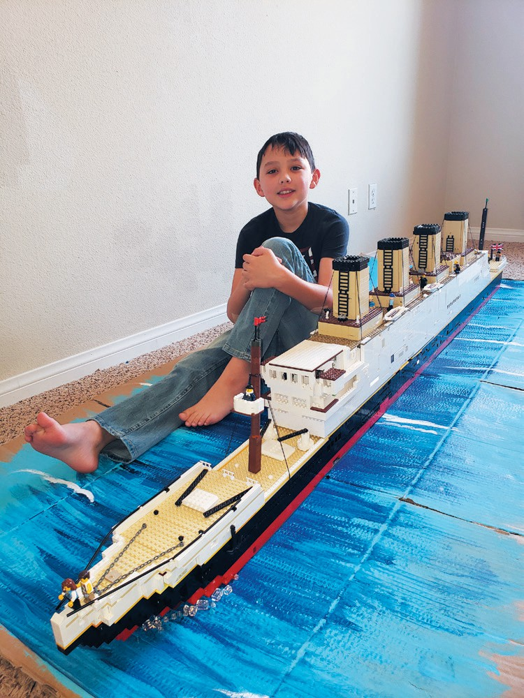 Created by Skyler Gerald SINKING BEAUTY— Recreation of RMS Titanic. PUBLISHERS CHOICE