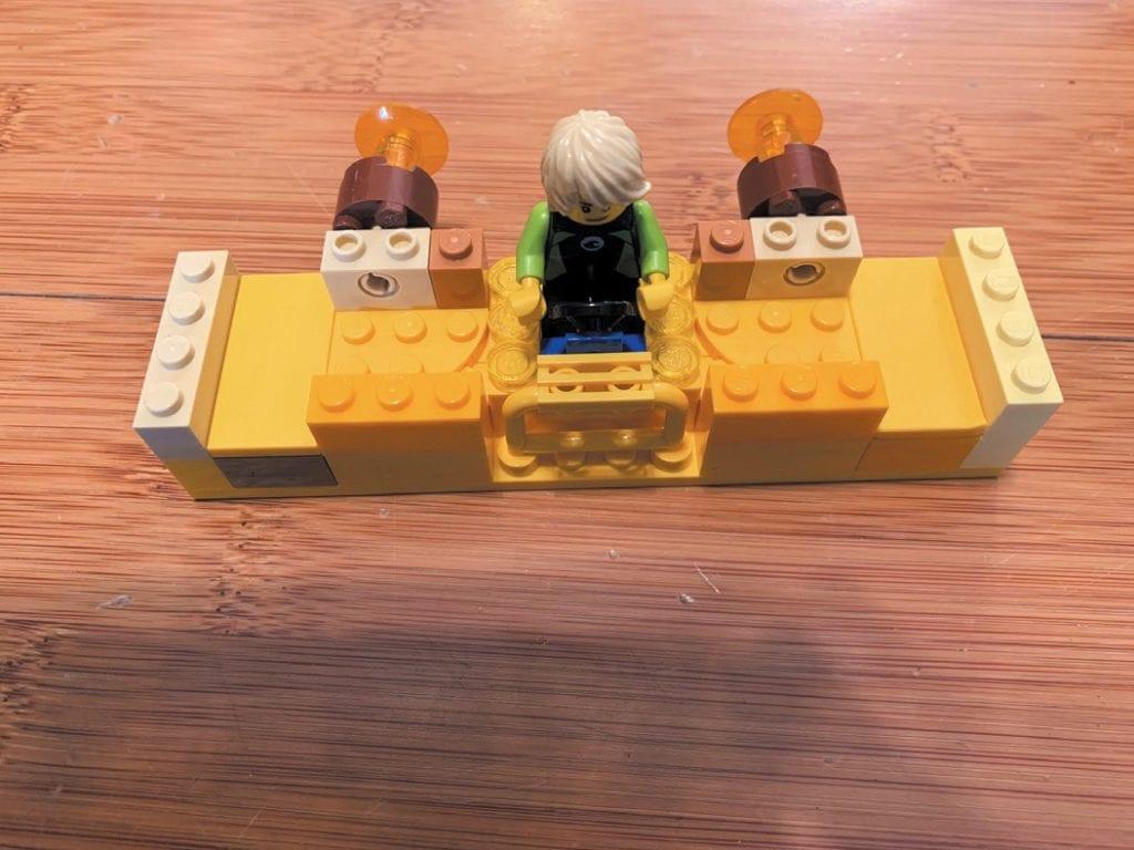 Created by Shane Ward WINGIN' IT—4-year-old Shane made a Lego man, also named Shane, flying a spaceship.