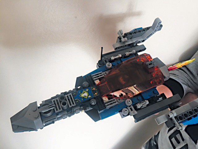 Created by Gavin Moore SPACE AND TIME—Intergalactic Man's ship, the super hero who saves the galaxy. Key features are the landing gear, navigating system antennae and its powerful engine.