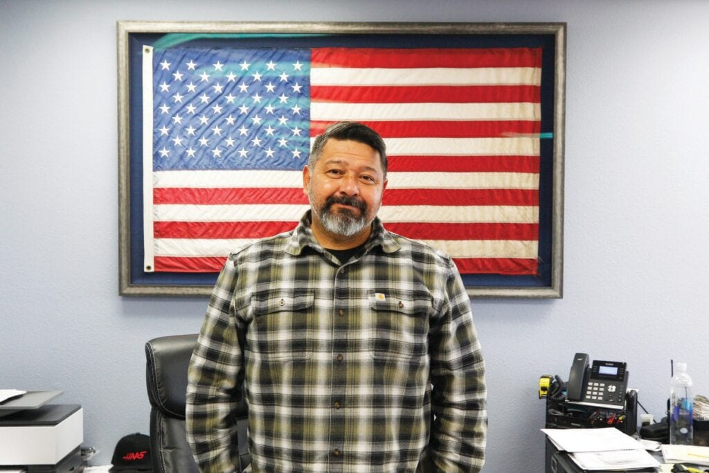 PRIVACY REQUESTED—Manny Vega, the owner of Anacapa Industries, in his office Jan. 19. RICHARD GILLARD/Acorn Newspapers